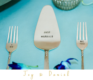 Just married cake cutter